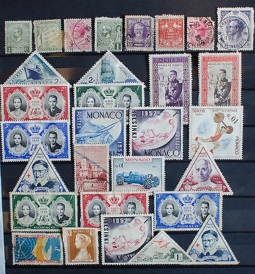Collection of Stamps from Monaco