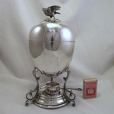 Extra Large Silver Plated Egg Coddler Walker & Hall 1913 - Birds Nest