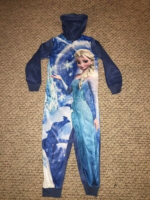 Gorgeous Soft M&S All In One Onesie, Frozen Elsa, 6-7  years, Worn Once!