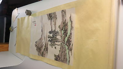Chinese hand painted scroll signed