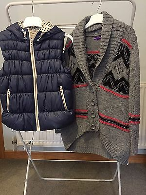 Girls Next Gilet and Marks and Spencer Cardigan age 7-8  Excellent Condition