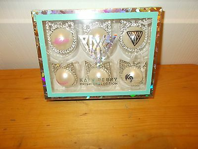KATY PERRY Prism Collection Mini- CHRISTMAS ORNAMENTS--Box of 6 NIB