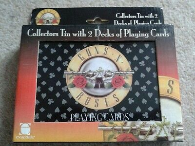 Guns N Roses Collectors Tin with 2 Decks of Playing Cards