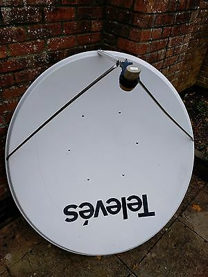 Televes 1.3m satellite dish and pole mount fittings