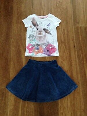 Next Age 3 Skirt & Bunny Top
