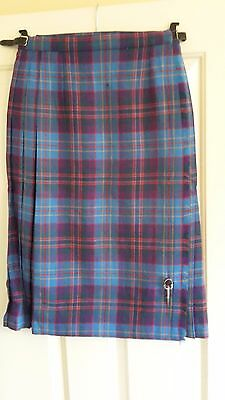 Highland Home Industries, Scotland Womens Black & Red Pleated Kilt, Size 12