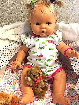 18 Inch Anatomically Berjusa from Spain baby girl with blond hair and hazel eyes