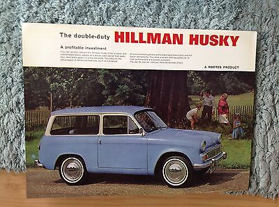 Hillman Husky  Sales Sheet.    1078/h