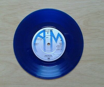 The Police - Can't Stand Losing You - Blue Vinyl 45 Single Record