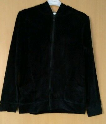 Girls Black Hooded Zip up Jacket - Age 13/14