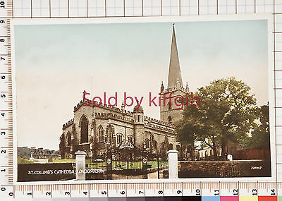 St Columb's Cathedral, Londonderry vintage postcard