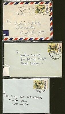 Malaysia -3- 1973 Butterfly Stamp Covers