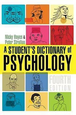 A Student's Dictionary of Psychology by Nicky Hayes, Peter Stratton (Paperback,…