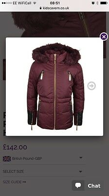 Girls Winter Relish jacket Similar To Mayoral S D Le Chic - age 8 BNWT