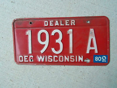 1979-80 Wisconsin License Plate Dealer 1979 Ford 79 Chev1980 Chevrolet? 80 Ford?