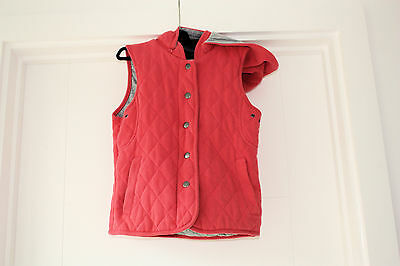 Bodywarmer Girls  Orange  / Salmon Pink  Hooded  Age 10 / 11 Year Candy Couture • EUR 7,67