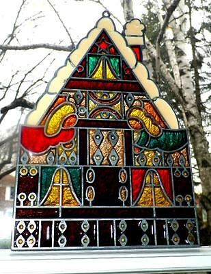 Hand Made Stained Glass SunCatcher CHURCH 10x7 Chicago,IL