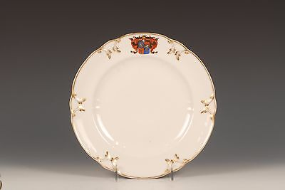 Antique Russian Porcelain Armorial Plate Baronovka by Popov Factory