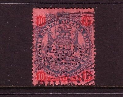 BRITISH SOUTH AFRICA Co....  1896-97  10/-  used with perfin