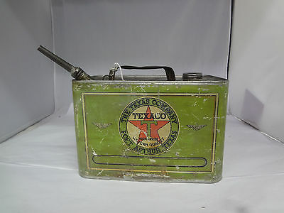 Vintage Advertising One Gallon Texaco Oil Can   J-349