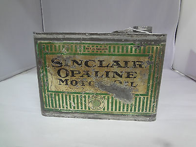 Vintage Advertising One Half Gallon Sinclair Oil Can  367-Y