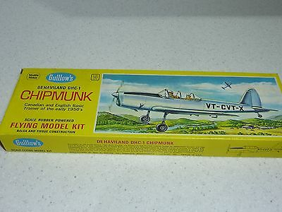 GUILLOWS DHC-1 Chipmunk #903 Scale Rubber Model Kit Balsa Aircraft 17""
