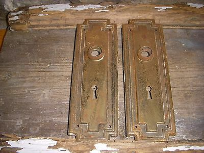 Mission Raised Rustic Shabby Chippy Raised Edge Door Knob Back Plates Art/craft