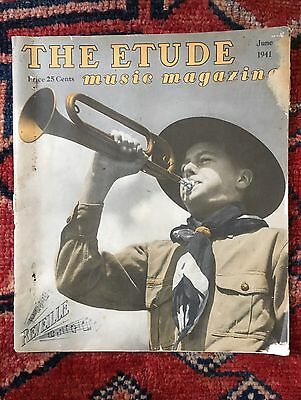 Boy Scout The Etude Music Magazine June 1941 Boy Scout Cover Full Issue