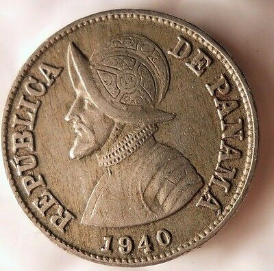 1940 PANAMA 2 1/2 CENTESIMOS - Rare Excellent One Year Type Coin - Lot #N26