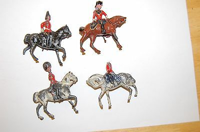 4 Pre War Britains Lead Mounted Soldiers