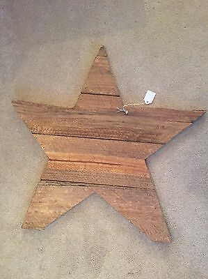 Rustic/Primitive Handmade Wooden Christmas Star Decoration/ Wall Hanging