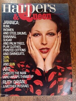 Vintage 1970s British Harper's and Queen Fashion Lifestyle Magazine April 1971