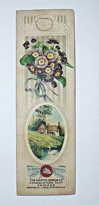 Antique Vintage Victorian Trade Card Bookmark Martin Senour Pioneers of Paint