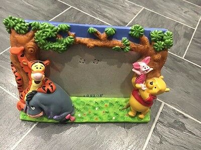 Disney Winnie The Pooh 3D Multi Colour Photo Frame Pooh/tigger/eeyore/piglet
