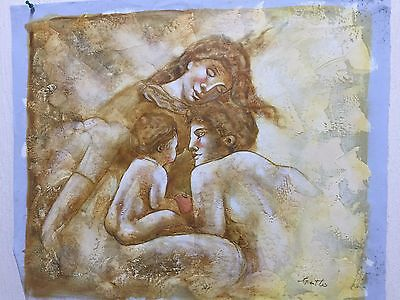 Beautifull oil on canvas abstract painting unframed signed by artist