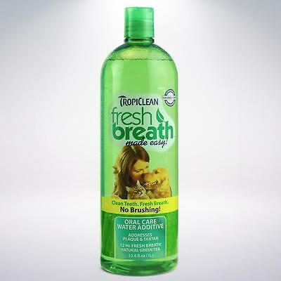 Fresh Breath & Clean Teeth Water Additive! Add To  Bowl! Dogs & Cats! Tropiclean