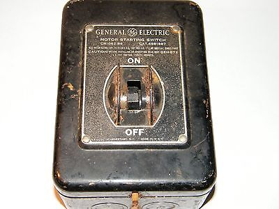 Vintage General Electric Motor Starting Switch On/off Box Cr1062-B6 Not Tested