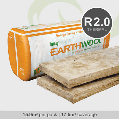 R2.0 | 430mm Knauf Earthwool Thermal Wall Insulation Batts (15.9m2 per pack)