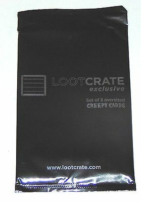 Loot Crate exclusive Creepy Cards Blackest Night NYCC 2015 oversized sealed