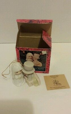 PRECIOUS MOMENTS ORNAMENT-Our First Christmas Together Dated 1992 Original Box