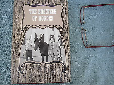 Horses California Business of Author Signed Vintage Racing Owning Cowboy 1973