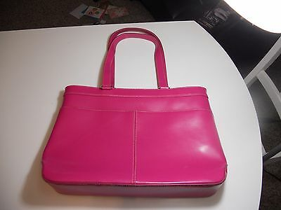 Pink Wilson Leather Briefcase/Computer Bag