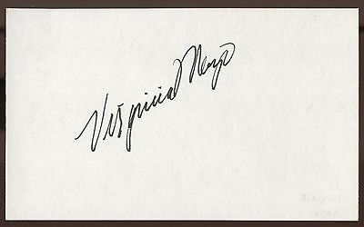 Catherine Deneuve Signed Index Card Signature Autographed Auto Movies Entertainment Memorabilia