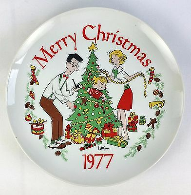 Dennis the Menace Merry Christmas 1977 Decorators Plate Dupont Collection