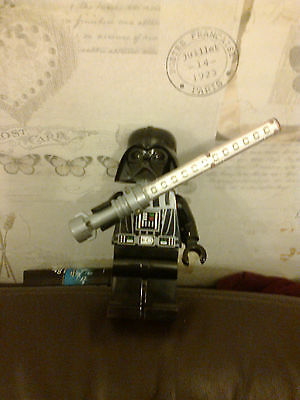 Lego 8 Inch Large Darth Vader Figure Shaped Light Up Torch Star Wars