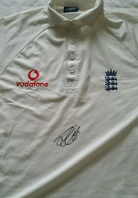 Alastair Cook Signed Authentic England Cricket Test Jersey Shirt Coa Bradman