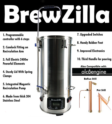 RoboBrew Gen 3 35L Brewing System With Pump - Home Brew / Beer / All Grain