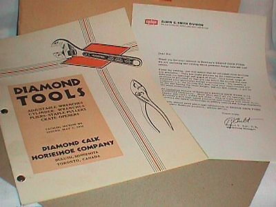 DIAMOND Tools Tool Catalog  Book 1932 Calk HORSESHOE Company WRENCHES Pliers