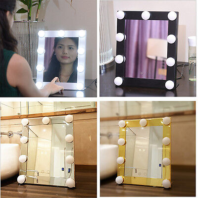 Xmas Vanity Lighted Hollywood Makeup Mirror with Dimmer Stage Beauty Mirror