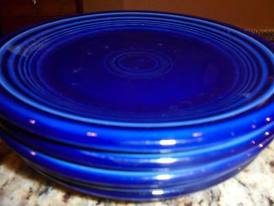 Fiestaware 5 Salad Plates Fiesta Cobalt Blue Nice Condition ~ Low Fast Shipping!